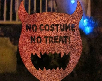No Costume No Treat Steel Halloween Garden Sign