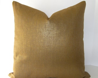 Robert Allen Alchemy Pillow Cover - Copper - Glazed Metallic - Gold Metallic - Bronze Pillow - Gold Pillow