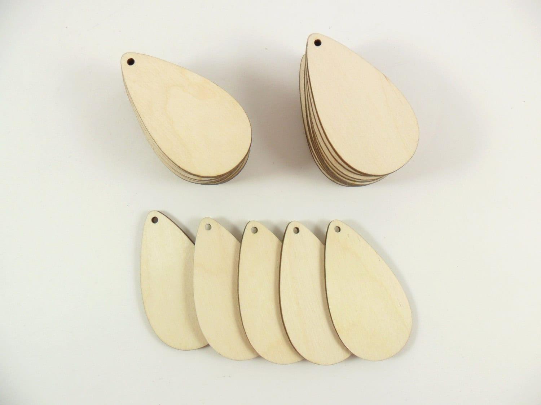 24 wood teardrop earring pendant shapes 2 1 2 x 1