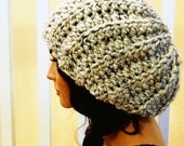 50% OFF Loose Fitting Crocheted Slouch Hat-Oatmeal