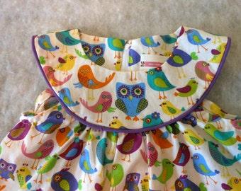Toddler Dress Multi Birds