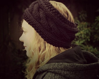 Cable Knit Headband made with Super Chunky Yarn