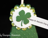 Happy St. Patrick's Day Shamrock Lollipop Treat Holder Party Favors