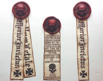 Deluxe SKULL Purity Seal - Real Size, Brooch Pin Back, Mark of Faith