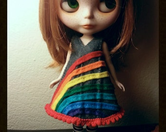 We're not in Kansas any more- Felt Dress for Blythe