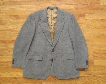 mens vintage Bill Blass grey camel hair jacket