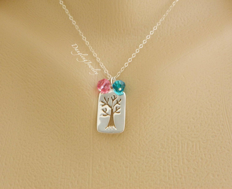children birthstone mother necklace family tree birthstone. Black Bedroom Furniture Sets. Home Design Ideas
