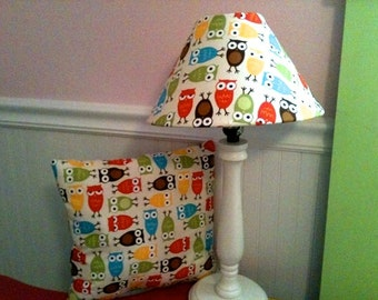 Owl Lampshade And Throw Pillow