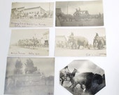 6 CIRCUS Photos - Antique Forepaugh and Sells Circus 1910 - Circus Coming to Town