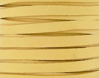 Leather Lace-5mm Deerskin Lace-Buckskin-2 Yards