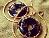 Custom Kaltso Hoop Weights - Stretched Lobes - Choose Your Own Stone - Gauges