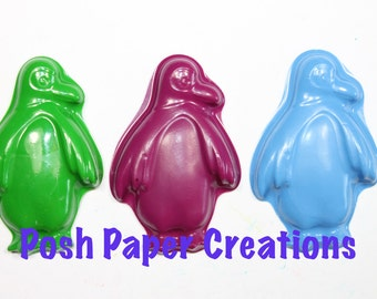 10 sets of 2 Penguin crayons - in cello bag tied with ribbon - choose your colors