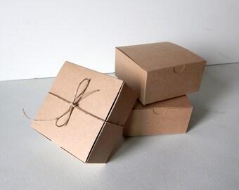 "150 - 4x4x2"" Kraft Gift Boxes"