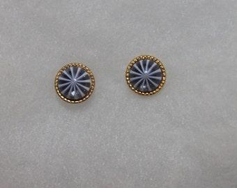 Vintage Avon Starburst Stone Earrings