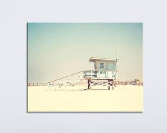"Beach Photography Canvas Art, Hermosa Beach, California Canvas Art, Beach Decor, ""Summertime Memories"" Large Canvas Art"