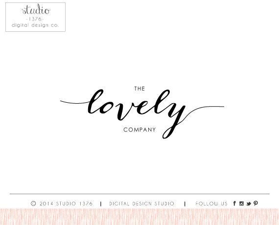 The lovely handwritten calligraphy logo design by studio