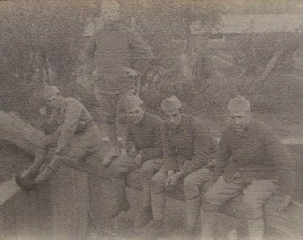 Vintage French Photo Postcard - French Soldiers