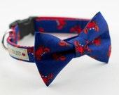 Red Crab Dog Bowtie Collar