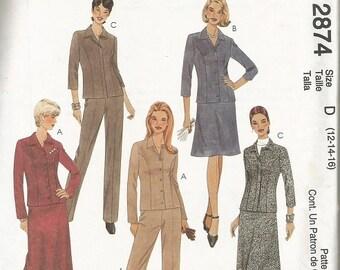 McCall's 2874 Women's Separates Pattern SZ 12-16