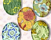 Digital Collage Sheet, Digital Art, Printable Download, 40 X 30 mm (or smaller) Ovals, Cabochons, Easter Eggs, Embellishments, CS 362