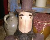 Primitive Abraham Lincoln doll