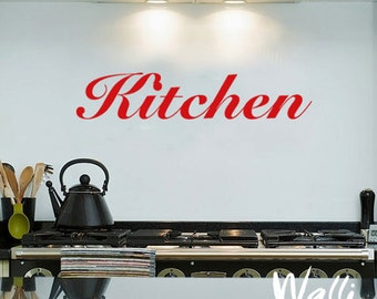 Kitchen wall decal lettering