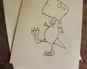 Zombie T. rex Card - Zombie Dinosaurs