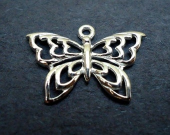 Sterling Silver Butterfly Charm / Pendant