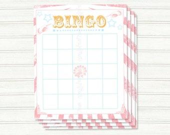 Vintage Carnival Printable Bingo Board