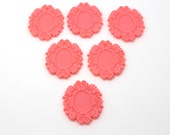 Bright Pink Resin 18 X 25mm Setting - Set of 6