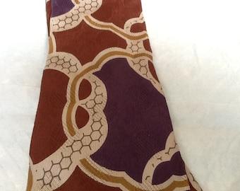 Vintage CARAVAGGIO Tie Silk Tie Italy Graphic Design