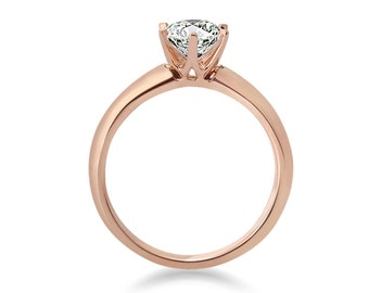 Classic 0.50 Carat Diamond Engagement Ring in Rose Gold