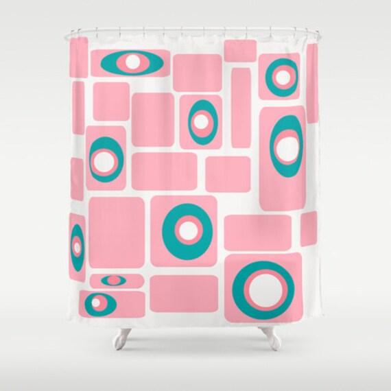 ... Shower Curtain-Mid Century Modern Shower Curtain,Mod Shower Curtain