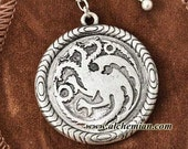 """Targaryen medallion """"Fire and Blood"""""""
