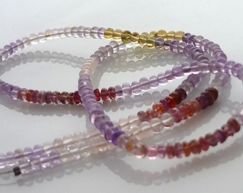 SALE Multi gemstone petite rondelle beads 2- 2.5mm 1/2 strand