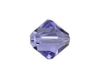 25  Genuine Swarovski Crystals 6MM in Gorgeous Tanzanite