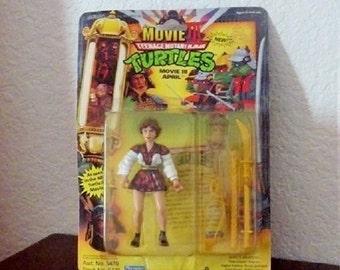 Teenage Mutant Ninja Turtle figure, APRIL from movie lll, 1992 Complete in package