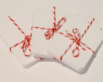 100 White Tags, Die Cut Tag, Gift Tags, 100 Labels, White Die Cuts