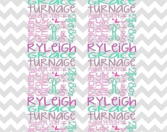 Personalized/monogram baby blanket  swaddle, receiving, stroller, tummy time, custom
