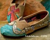 Eucharisteo Theme Custom TOMS Shoes - ADULT - Burlap