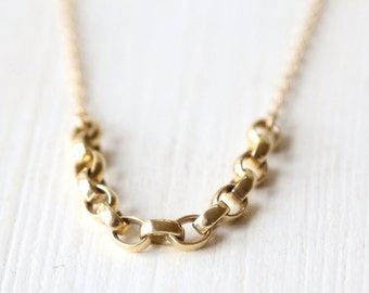 14K Gold Filled Modern Layering Necklace - simple everyday jewelry