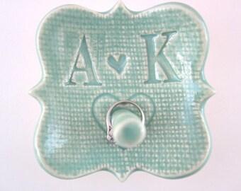 SALE Engagement ring holder Mr. and Mrs. Ring holder Bridal shower gift