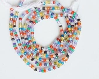 1/2 strand Multicolor  faceted  cz rondelle (3-3.5mm),multi color cz rondelle