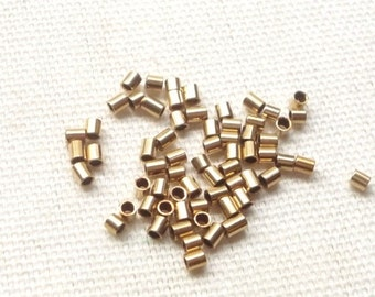 20pcs 14K gold filled crimp tubes (2x2mm)