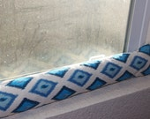 Door Draft Stopper Window Door snake Blue Natural Premier Prints.