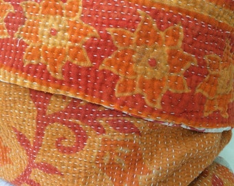 Vintage Kantha Boho Cottage Pillow Cover 4