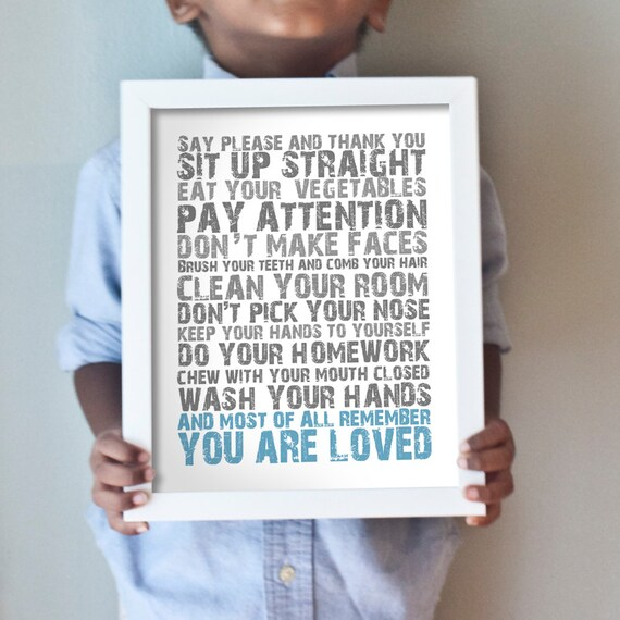 Printable 11x14 You Are Loved - blue