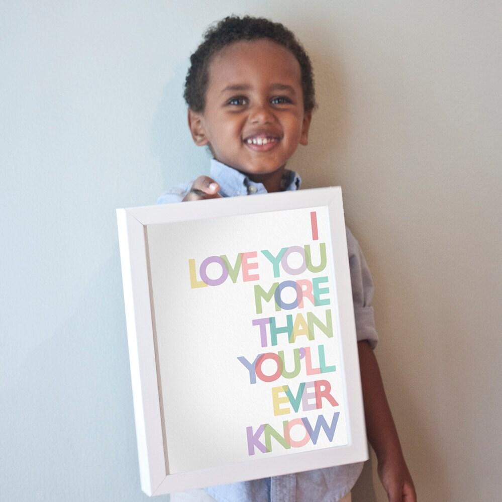 Printable 8x10 Love You More