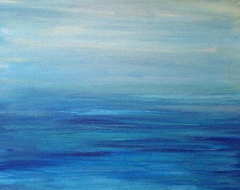 Art Sale Large Original Abstract Art Water Seascape Ocean Painting