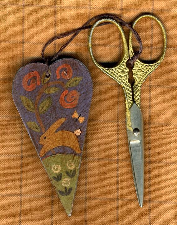 Spring Frolic Wooden Scissor Fob